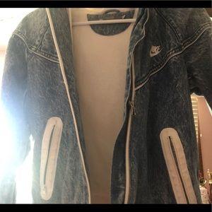 Nike jean jacket!!